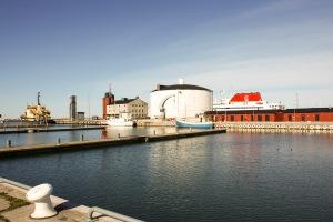 Inre hamnen vintertid. Foto: Linda Dahlström