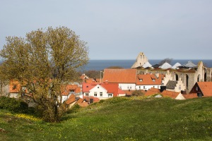 Visby innerstad från Norderklint. Foto: Linda Dahlström