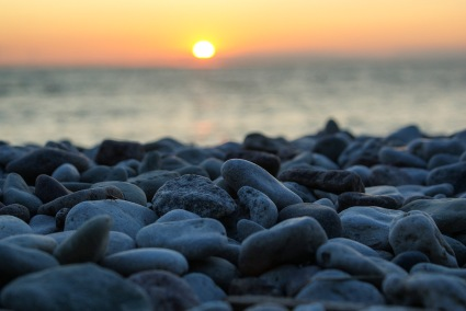 Solnedgång, Strandpromenaden. Foto: Linda Dahlström