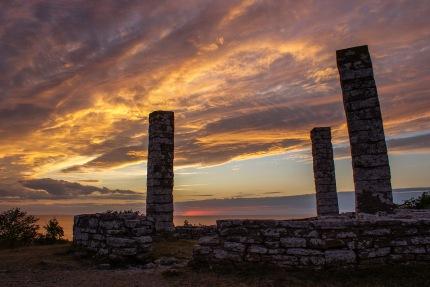 Tidigare avrättningsplats på Galgberget i Visby. Foto: Linda Dahlström