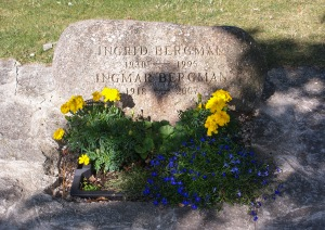 Ingrid och Ingmar Bergmans grav. Foto: Linda Dahlström