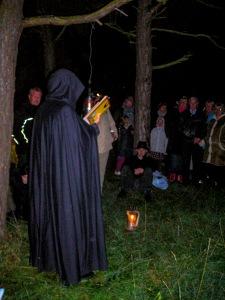 Spökhistorier på Engelska kyrkogården. Foto: Linda Dahlström