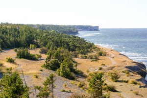 Västra kustlinjen söderut mot Tofta skjutfält. Foto: Linda Dahlström