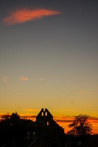 Sankt Nicolai ruin i solnedgång. Foto: Linda Dahlström