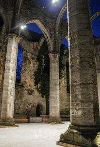 Skridskoåkning i Sankta Karins ruin